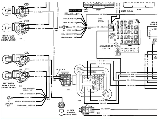1993 chevy 1500 turn signal wiring diagram  2007 camry 2 4l