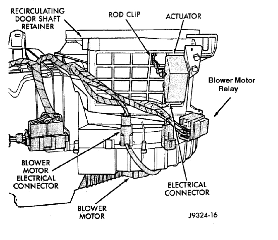 Blower Motor Relay Location: Heater Blower Runs Continuous