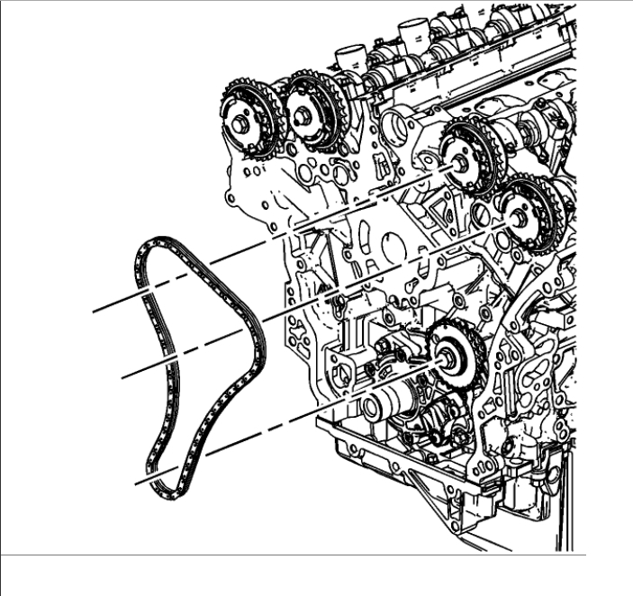 Timing Marks on 3.6 Non Direct Injection Engine