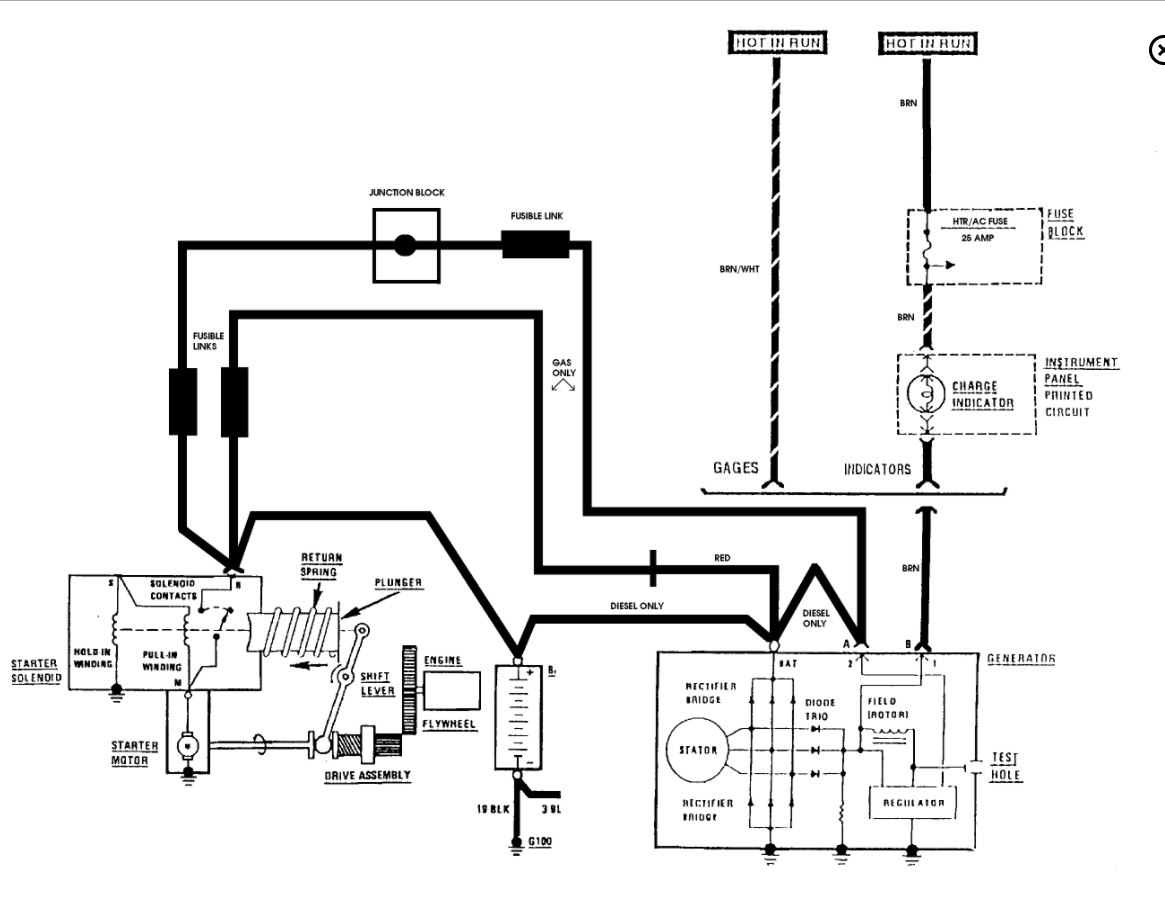 starter wiring diagram chevy 305 120 volt male plug engine will not turn over i have a k 10 pickup with