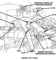 knock sensor location engine mechanical problem 6 cyl all wheel rh 2carpros com 2 7 timing marks diagram 2004 chrysler sebring engine diagram [ 1133 x 751 Pixel ]
