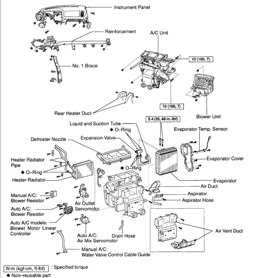Service manual [Change 1998 Toyota Avalon Temperature