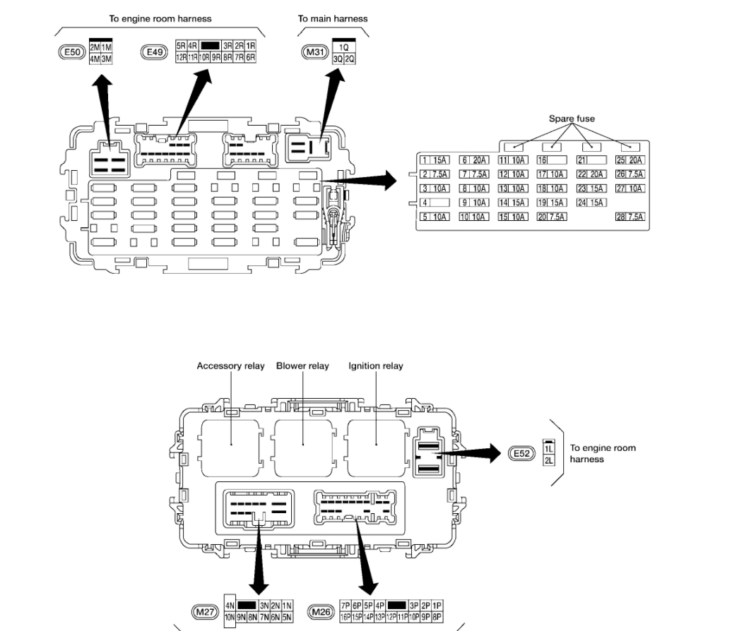 nissan x trail t30 wiring diagram for lutron dimmer switch primera fuse box manual wirning diagrams