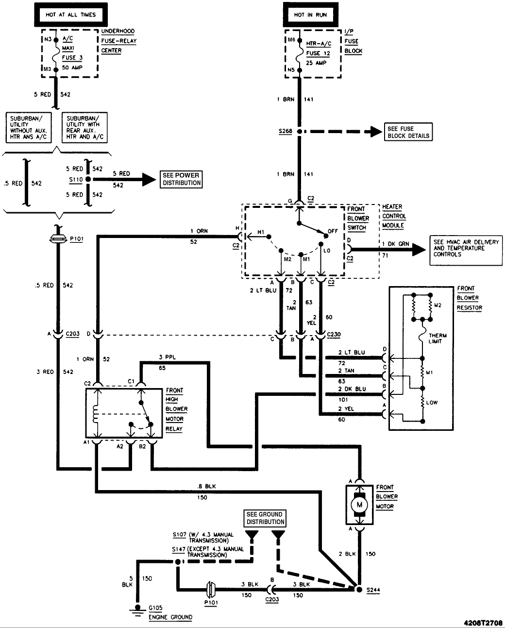 Wiring: My Wiring for My Blower Motor Is Wrong so I Got