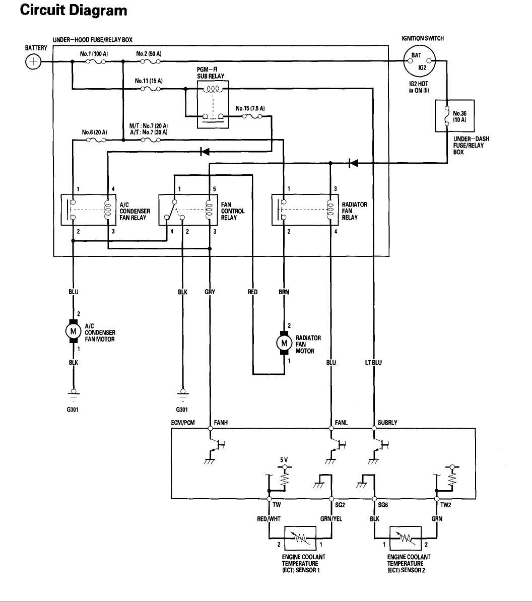 automotive electric fan relay wiring diagram diagrams for dummies cooling switch location my car is overheating the comes thumb
