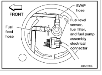 Fuel Filter Location: Engine Performance Problem 4 Cyl