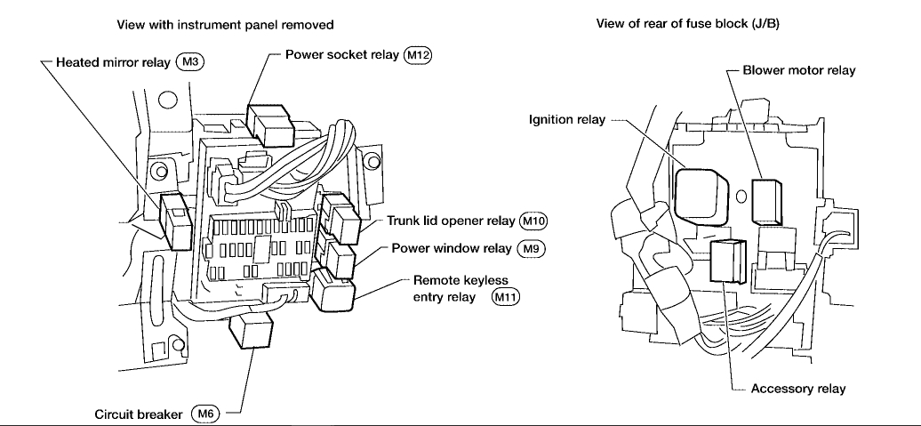 2005 Nissan Maxima Cooling Fan Relay Location Wiring