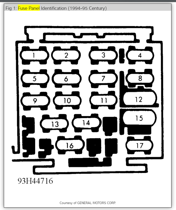Location of Fuel Pump Fuse or Relay
