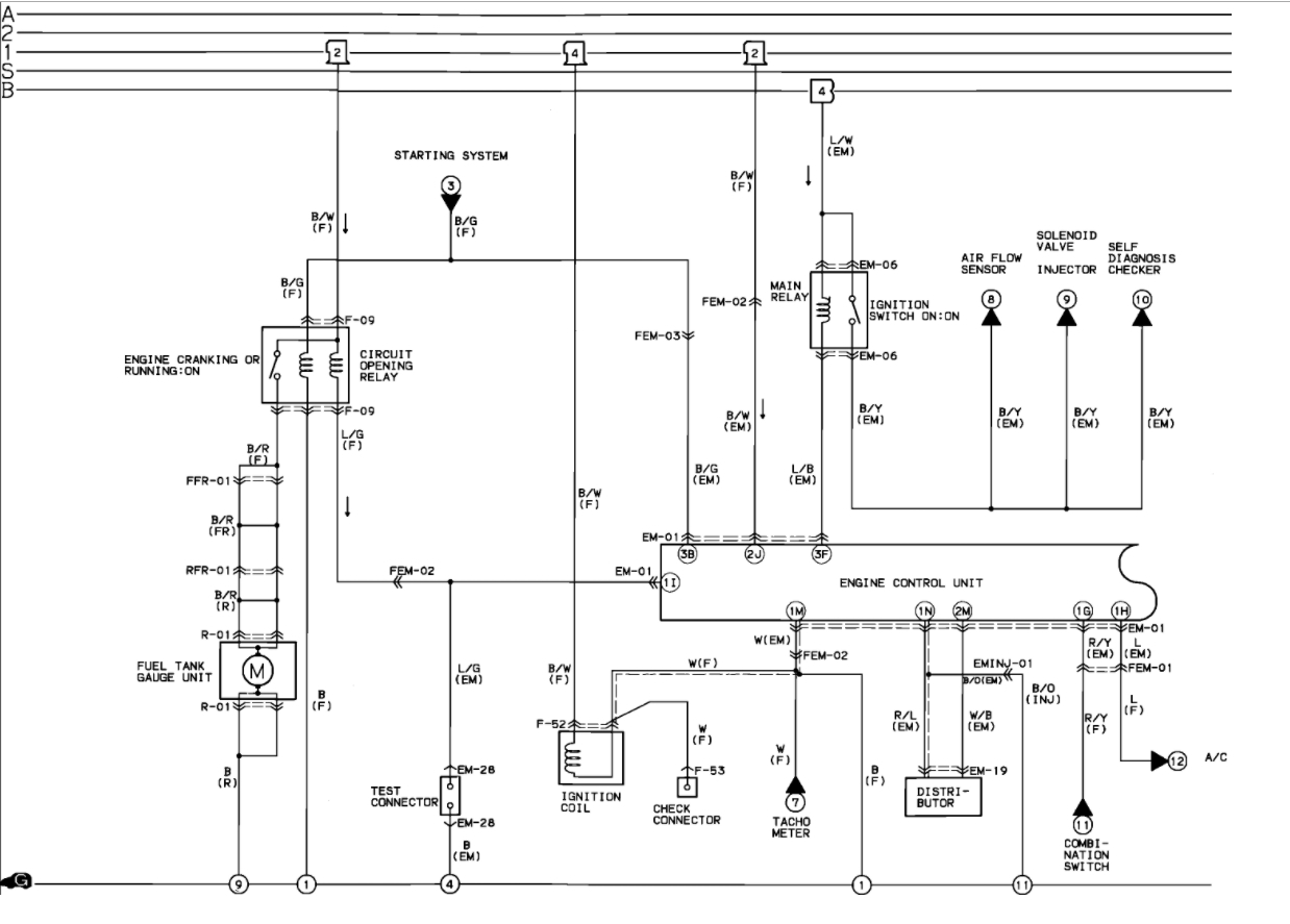 hight resolution of 91 mazda b2200 wiring diagram wiring diagram centre 91 mazda b2200 engine diagram coil
