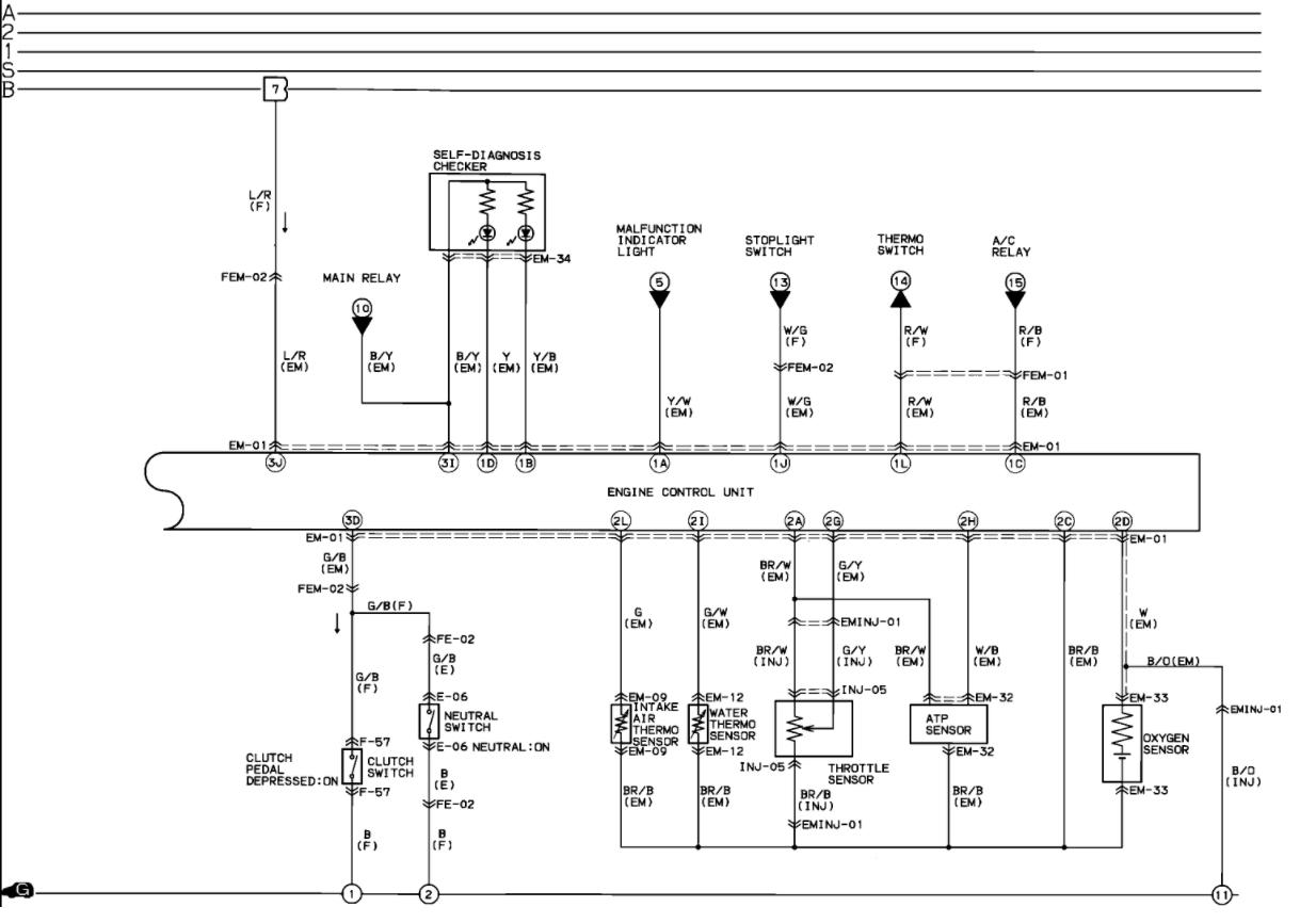 Mazda B2600i 4x4 Wiring Diagram 1989 1989 Mazda B2200