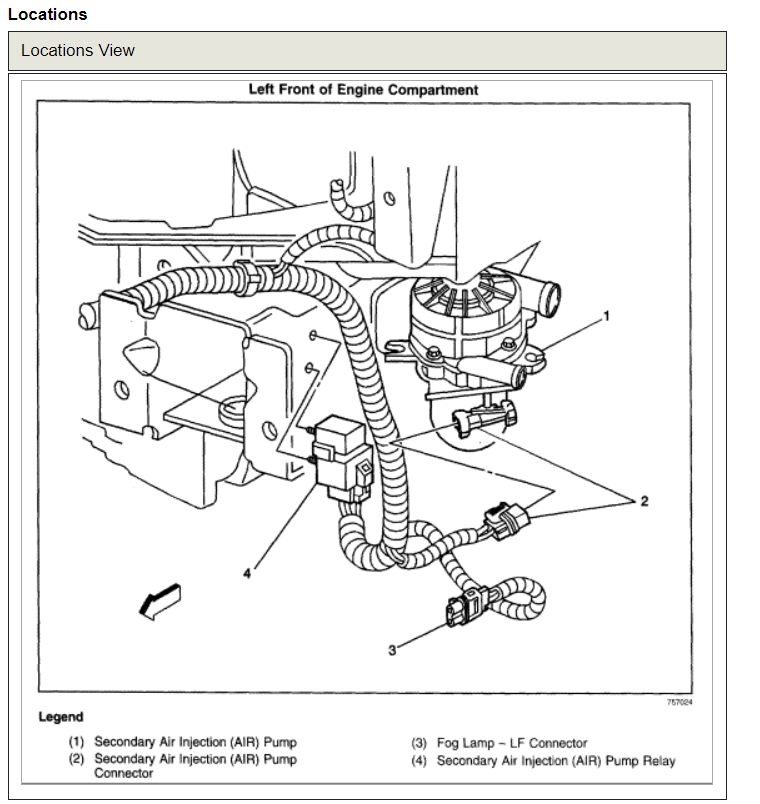 31 2001 Chevy S10 Secondary Air Injection System Diagram