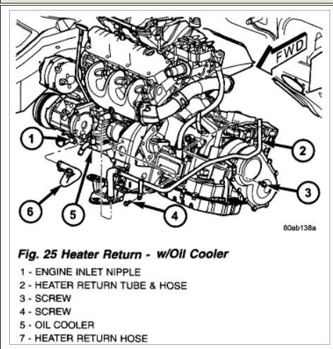 Rear Heater Bypass: Engine Cooling Problem 6 Cyl Two Wheel