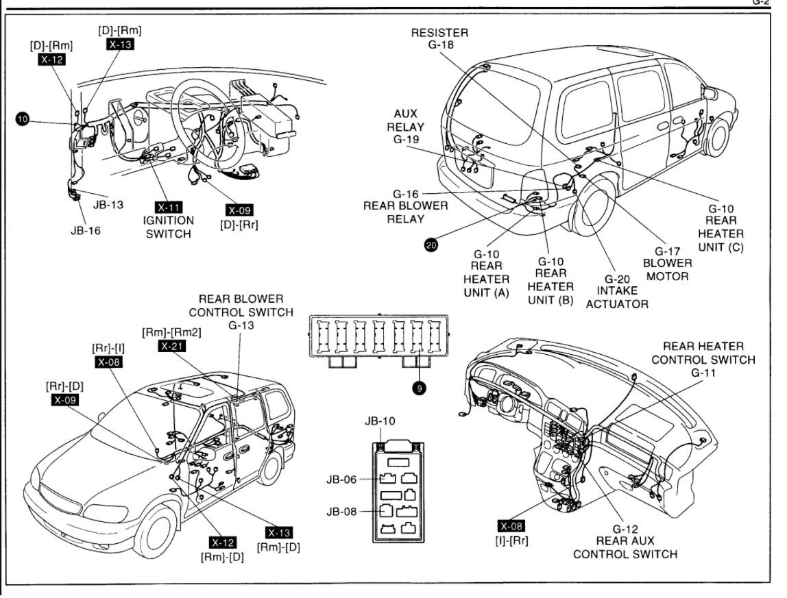 kia sedona diagram