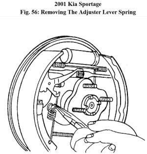 I Need a Diagram of Rear Brake Assembly for 2001 Kia Sportage