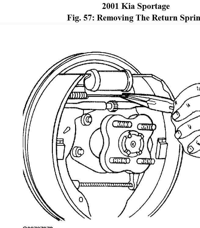 I Need a Diagram of Rear Brake Assembly for 2001 Kia Sportage