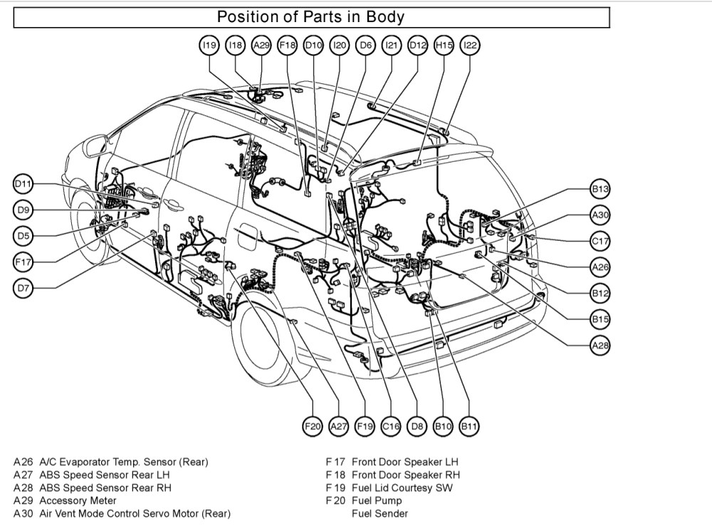 medium resolution of 06 sienna engine diagram