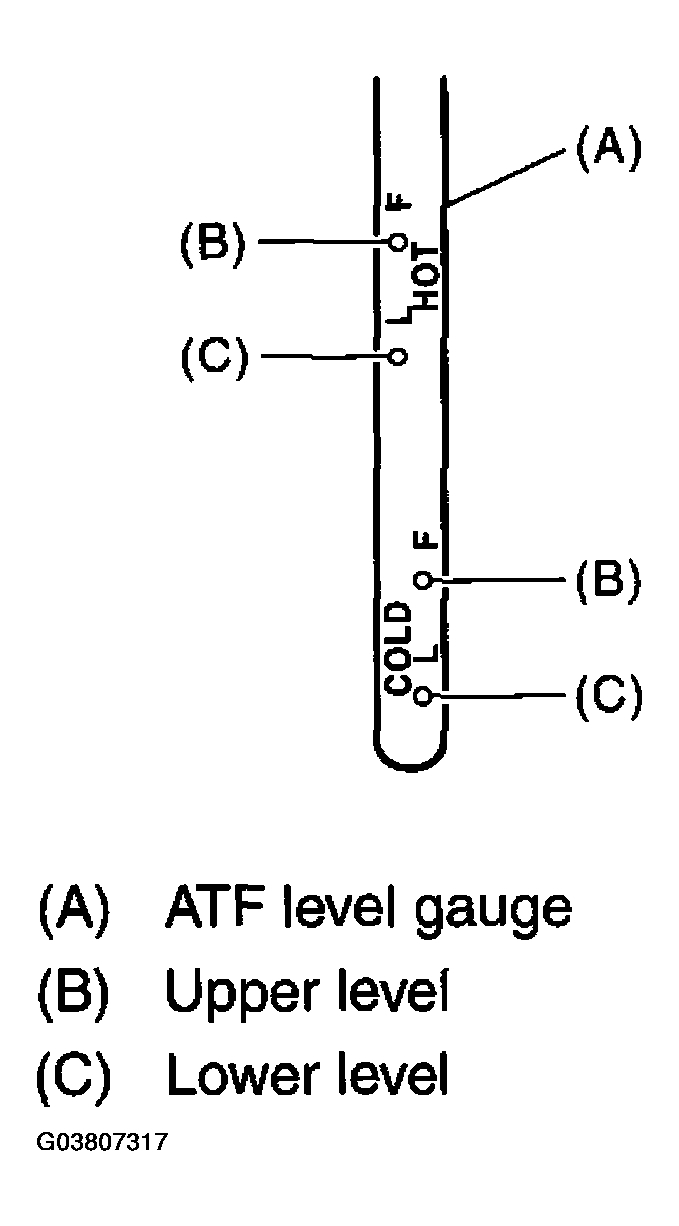 Transmission Fluid Level: I Checked the Fluid Level at