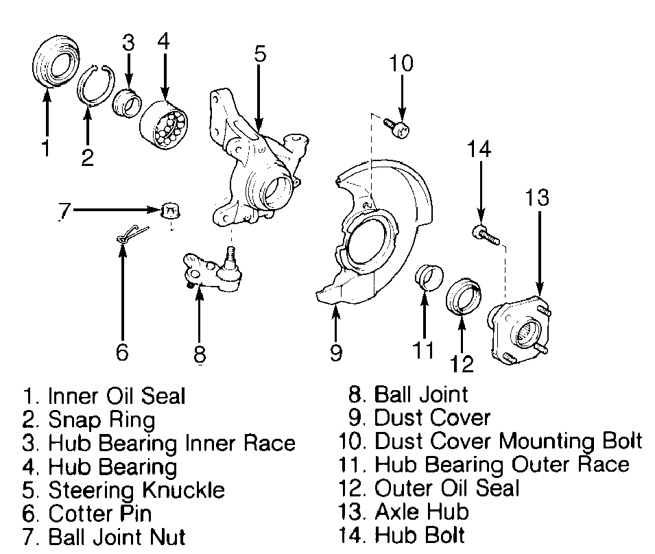 Service manual [How To Replace 1995 Toyota Tercel Front