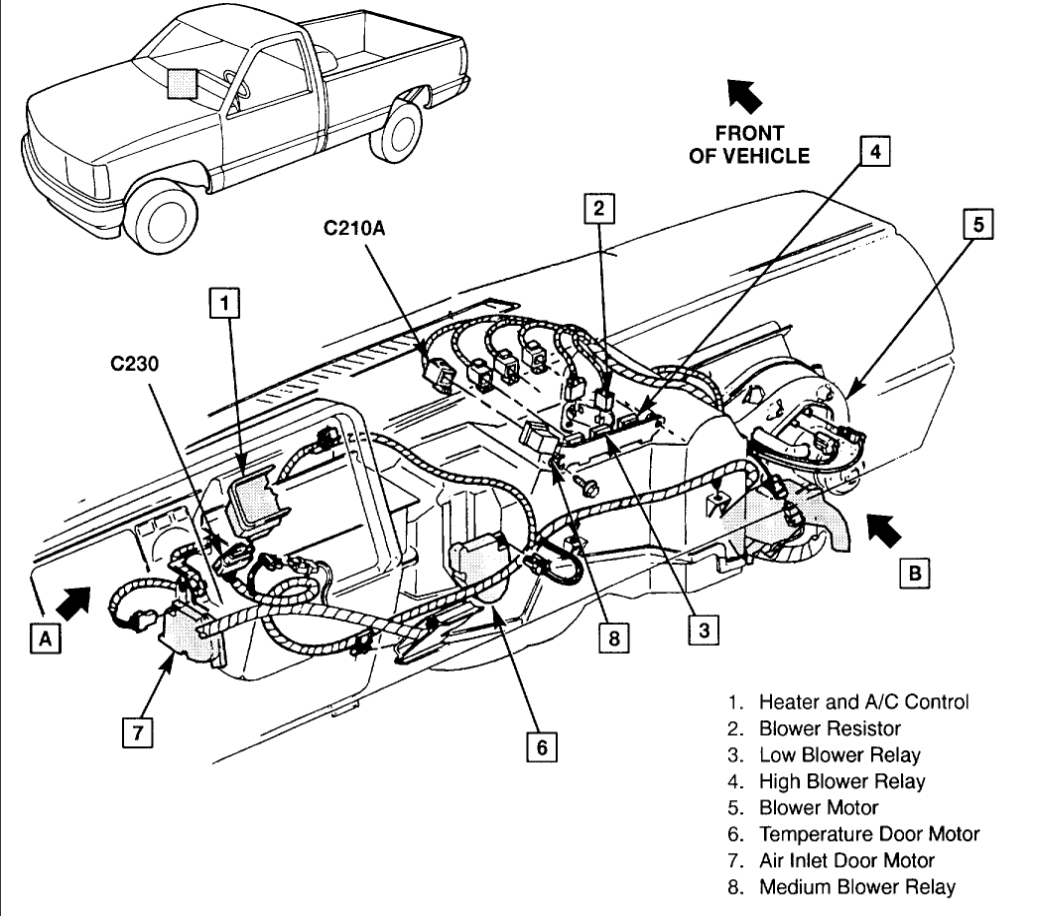 33 Chevy Silverado Heater Hose Diagram