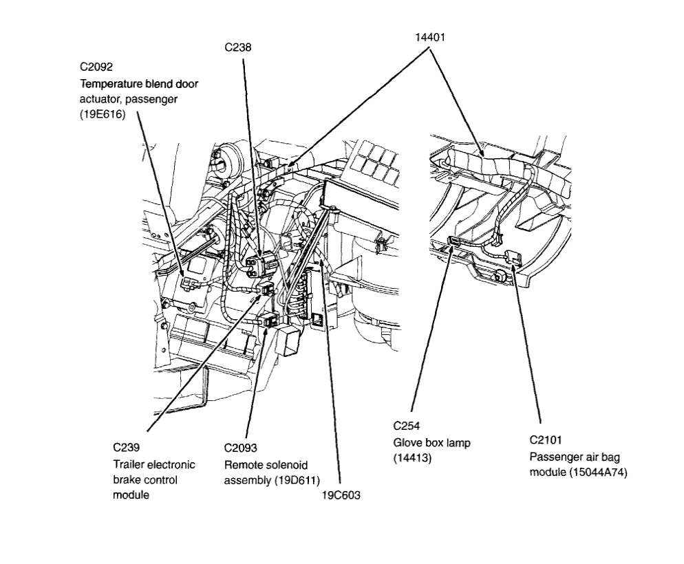 Cold Draft Behind Glove Box: 2004 Ford Explorer, 65K Miles
