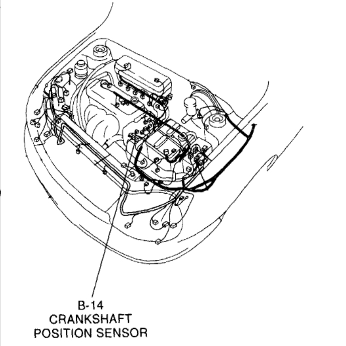 Crankshaft Sensor: Electrical Problem 2002 Kia Rio 4 Cyl