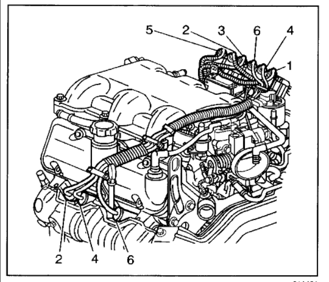 chevy spark plug wiring order