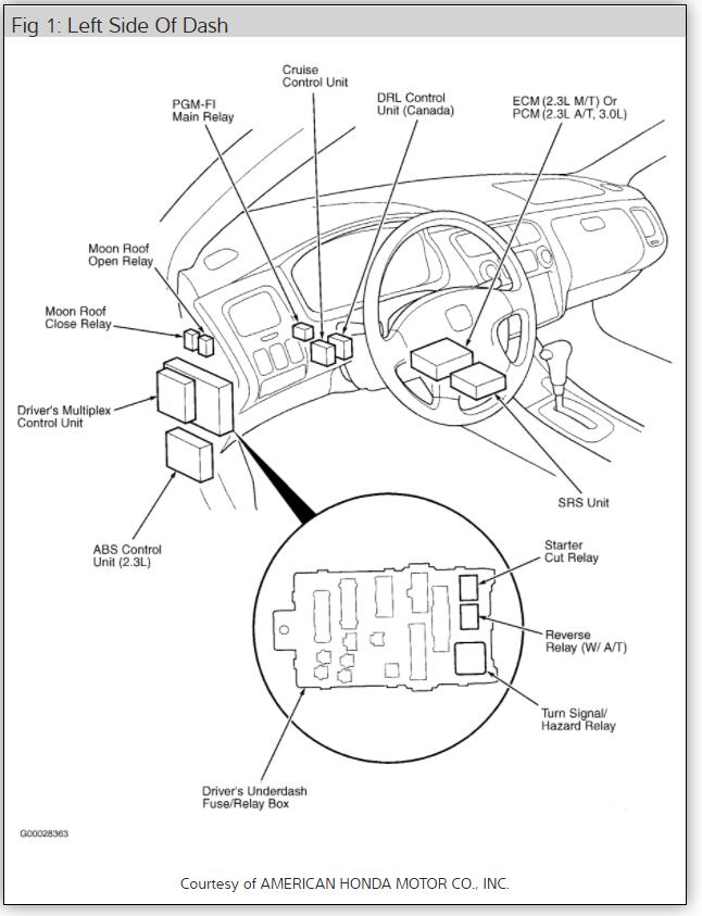 2000 honda accord spark plug wire diagram