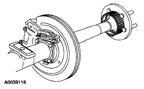 Rear Axle Wheel Bearing: Leaking Oil.