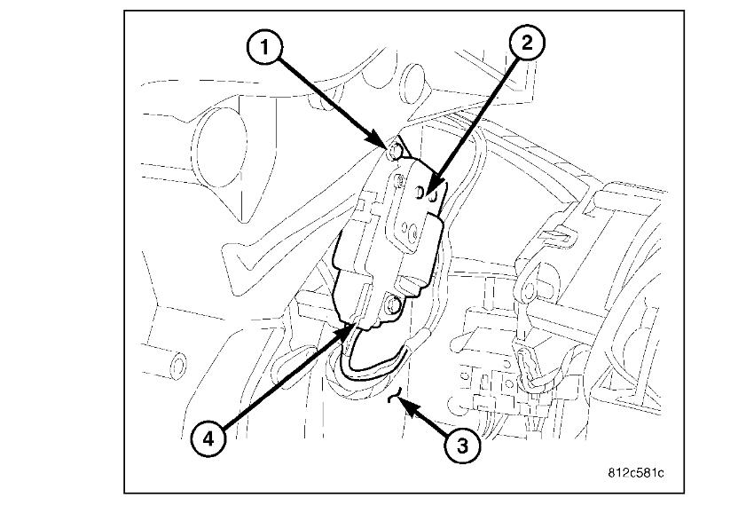 Driver Side Blend Door Actuator Location Needed