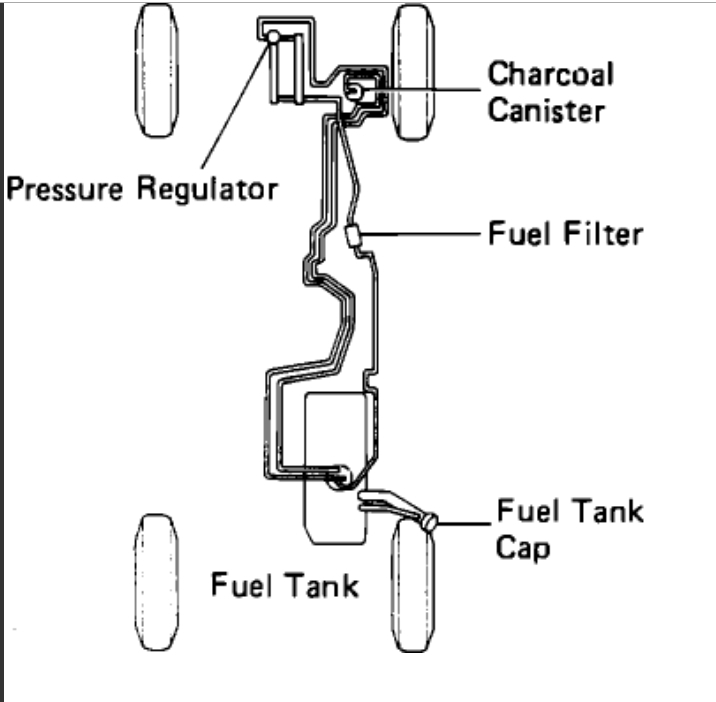 1993 Toyota Pickup Fuel Pump Location