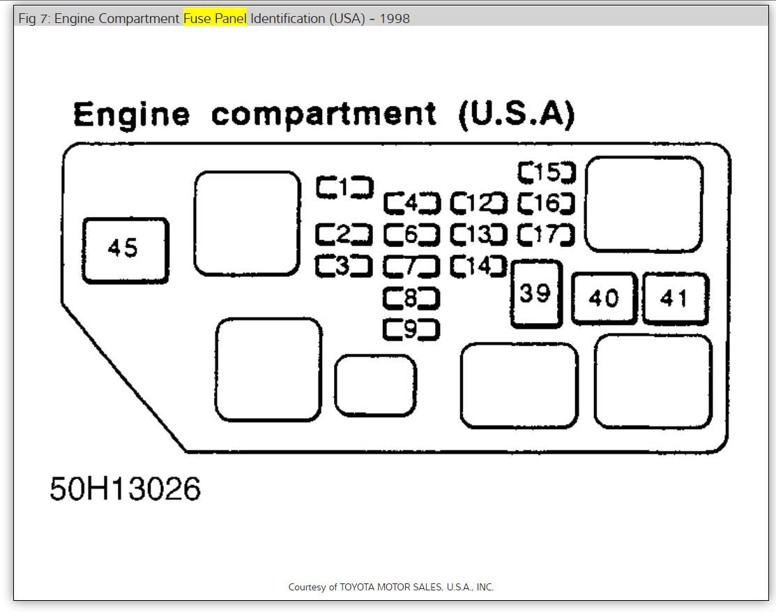 1995 Toyota Avalon Engine Diagram