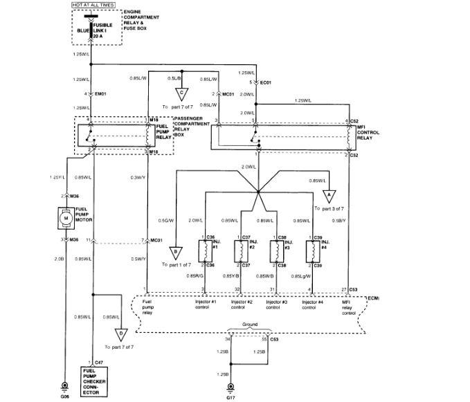 No Voltage to the Electric Fuel Pump