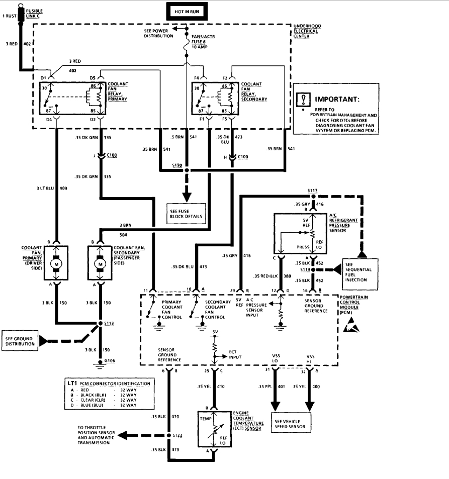 1992 firebird wiring diagram for cooling fans