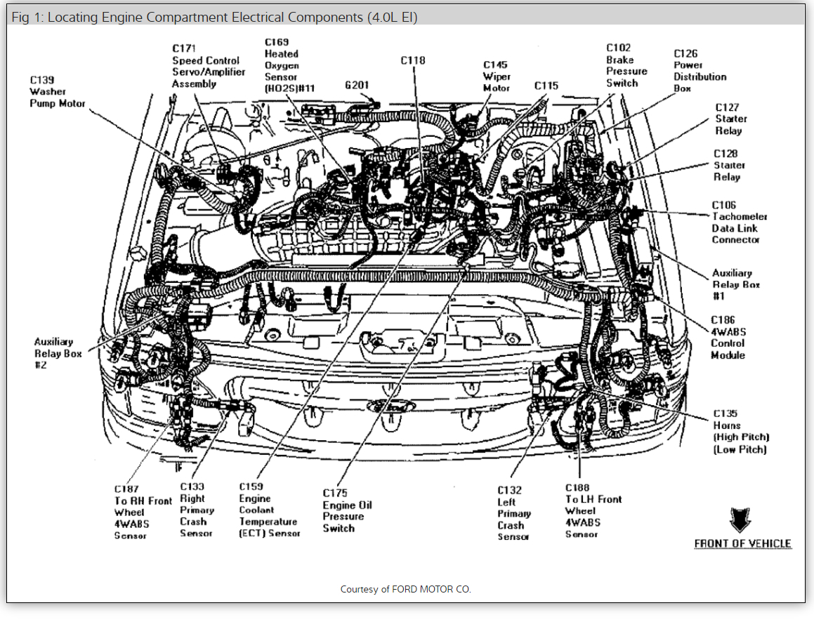 2004 sebring fuse box diagram under hood