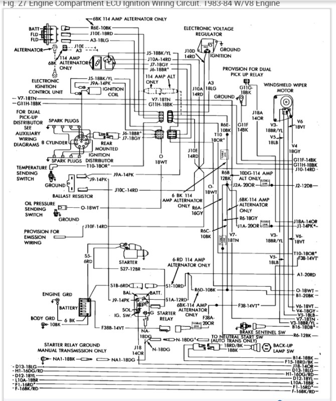 1984 dodge truck wiring diagram  wiring diagrams database