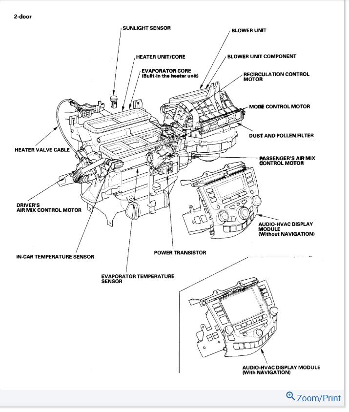 Blend Door Actuator: I Have a 2006 Honda Accord EX, V6
