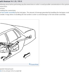 fuel pump replacement does this car have to have the tank taken the pump access or the sender access as shown in the diagram below [ 1167 x 903 Pixel ]