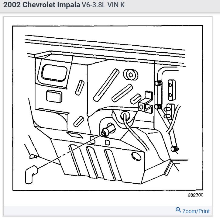 Location of AC Drain Tube: My 2002 Impala Is Not Draining