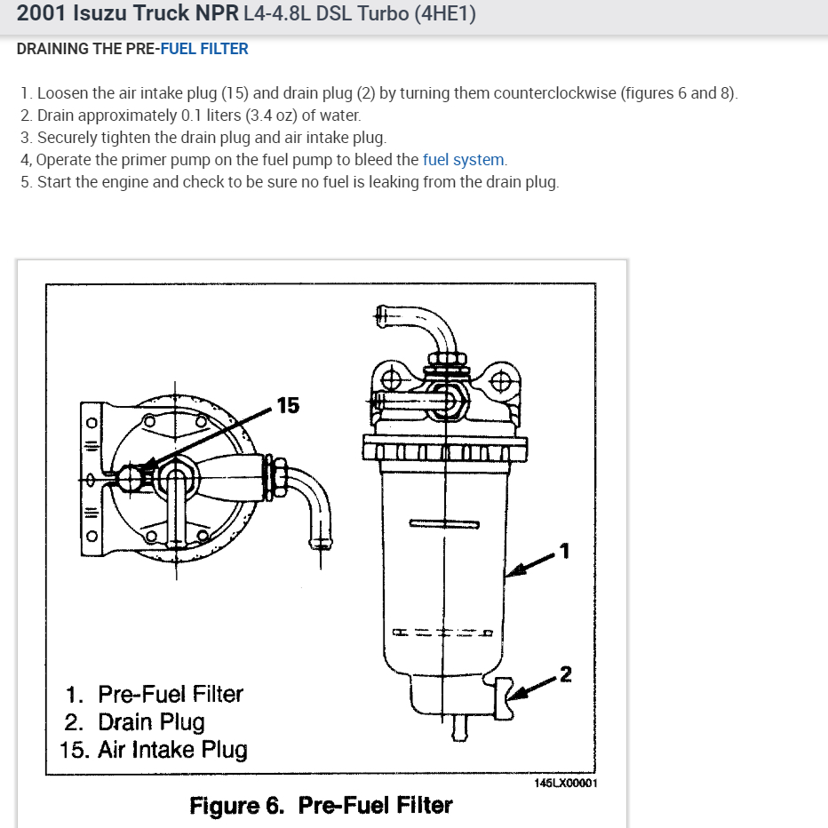hight resolution of how to bleed fuel system and change fuel filters 1992 chevy silverado fuel pump wiring on npr fuel filter 2013