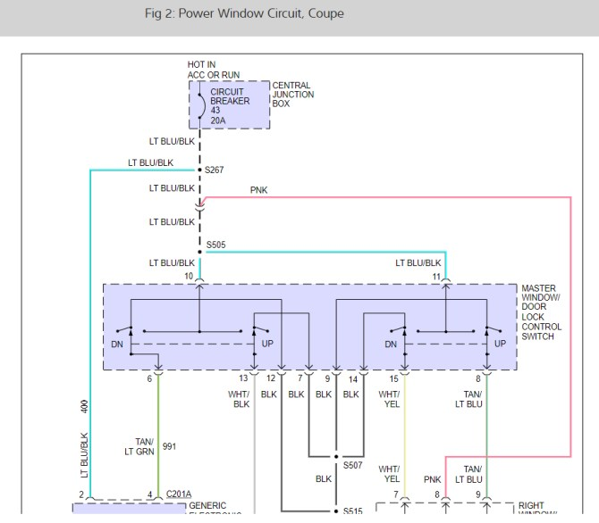 wire diagram for electric windows need a diagram for