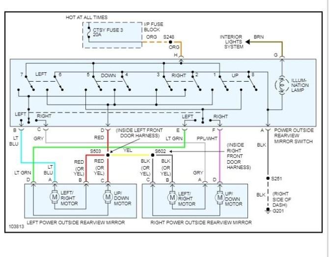 2001 chevy tahoe window switch wiring diagram  wiring