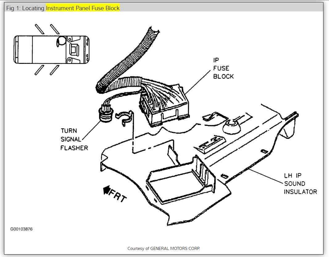 2003 oldsmobile intrigue fuse box diagram