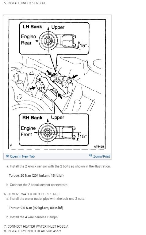 Toyota 4runner Knock Sensor Location