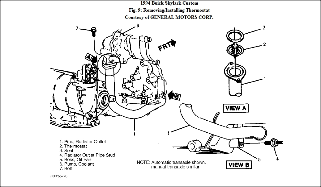 1995 buick skylark parts diagram