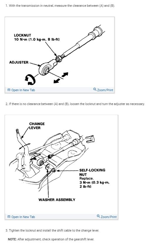 2000 Honda Civic Automatic Transmission Shift Cable