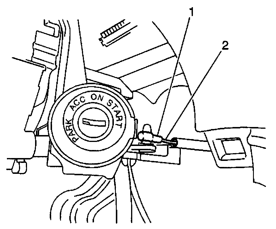 Ignition Key Release: the Cable That Is Attached to a