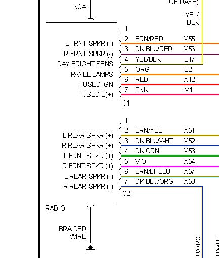 1996 Gmc Yukon Fuse Diagram 1999 Dodge Intrepid Radio Connection I Am Looking For The