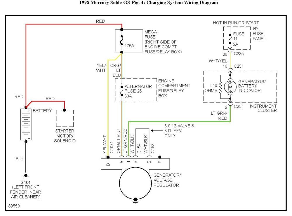 medium resolution of 1998 mercury grand marquis wiring diagram starting system