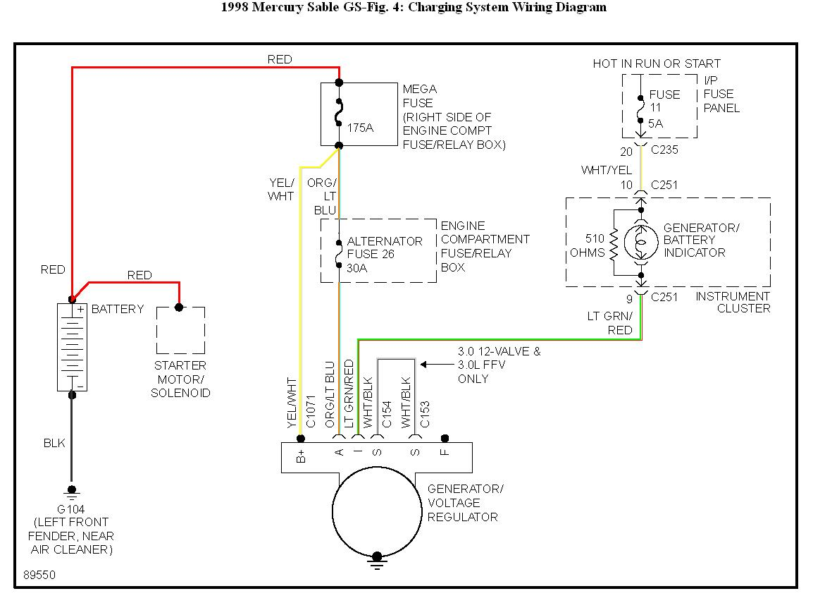 hight resolution of 1998 mercury grand marquis wiring diagram starting system