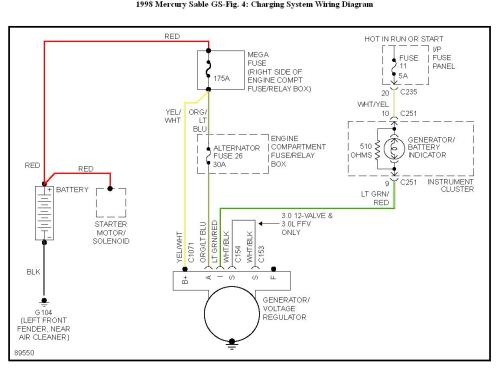 small resolution of 1998 mercury grand marquis wiring diagram starting system